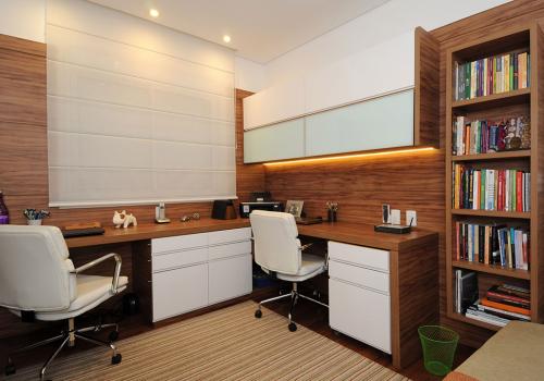 Móveis planejados em madeira para escritório