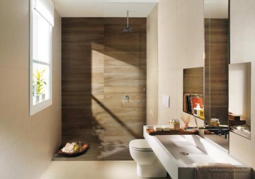Banheiros planejados em madeira