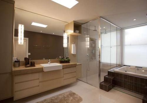 Banheiros planejados em MDF